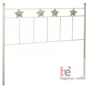 Cabecero de forja modelo ESTRELLAS perfecto para tu dormitorio. Disponible en varios tamaños. Hogares con Estilo.