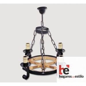 Lámpara de forja modelo 0517 de 4 LUCES, Hogares con estilo