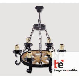 Lámpara de forja modelo 0518 de 6 LUCES, Hogares con estilo
