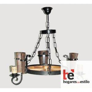 Lámpara de forja modelo 0550 de 3 LUCES, Hogares con estilo