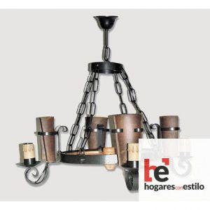Lámpara de forja modelo 0551 de 4 LUCES, Hogares con estilo