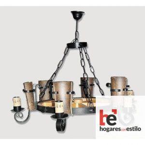 Lámpara de forja modelo 0553 de 6 LUCES, Hogares con estilo