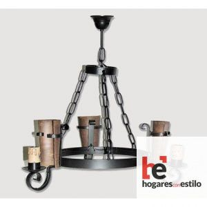 Lámpara de forja modelo 0555 de 3 LUCES, Hogares con estilo