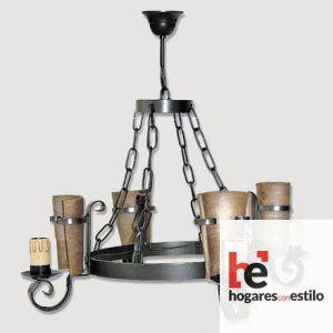 Lámpara de forja modelo 0556-0557 de 4 LUCES, Hogares con estilo