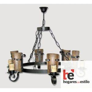 Lámpara de forja modelo 0558-0559 de 6 LUCES, Hogares con estilo