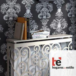 cubre radiador de forja blanco con decoración de espirales finas (como la vid de la uva)