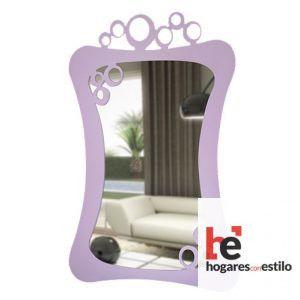 espejo de forja de pared decorado con burbujas en la parte superior (color personalizable)