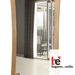 espejo de pared hecho de forja modelo Génova en color dorado envejecido y con decoración de circulos o burbujas alrededor del marco